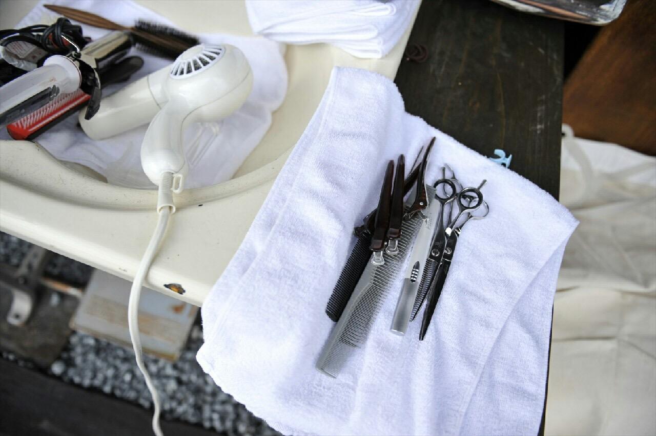 ハサミと美容師
