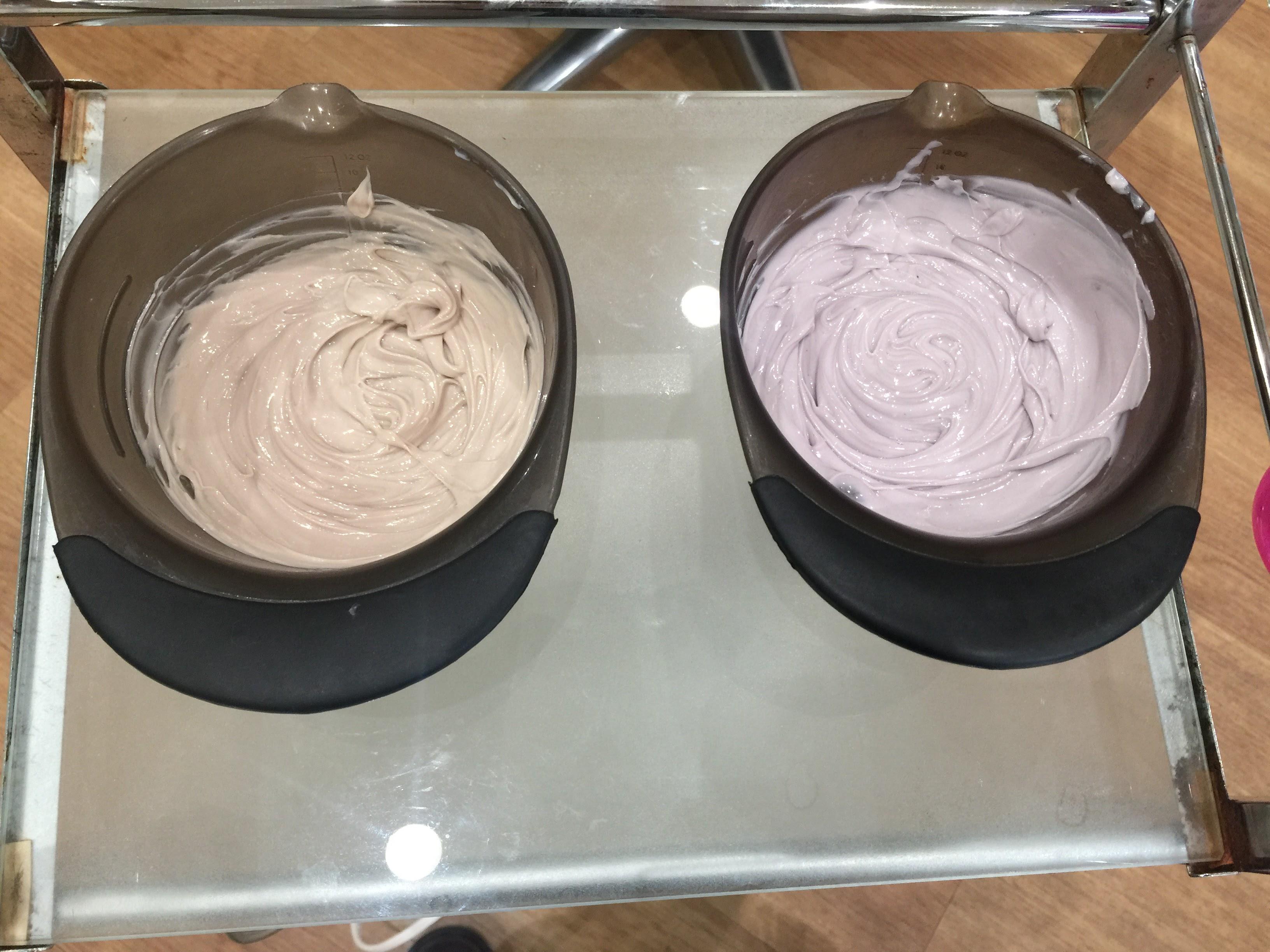 2種類のカラー薬剤